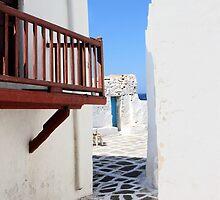 Mykonos Street by Carole-Anne