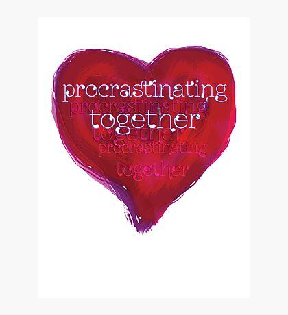 procrastinating together Photographic Print