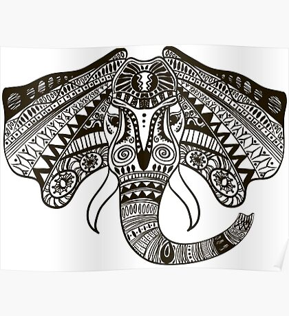 the head of an elephant Poster