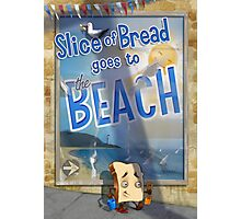 Slice of Bread goes to the Beach poster Photographic Print