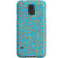Orange Kangaroos on blue background Samsung Galaxy Case/Skin