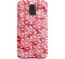 Pink Kangaroos on Harts Bakground Samsung Galaxy Case/Skin