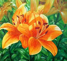 Tiger Lilies by Lily Van Dyck