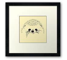 Tender hedgehog baby animals Framed Print