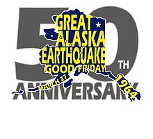 50th ANNIVERSARY GREAT ALASKA EARTHQUAKE ~ CARDS OR PRINTS by Ed Rosek