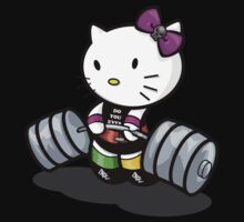 Deadlifting Hello Kitty by Bunleungart