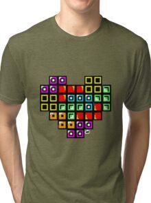 Tetris-Heart Tri-blend T-Shirt