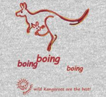 Boing boing boing kangaroo hopping orange Kids Tee