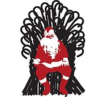Christmas Is Coming - Candy Cane Throne Photographic Print