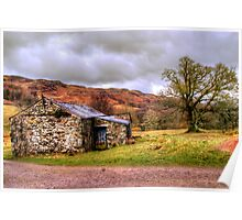Gowbarrow Barn, Lake District Poster