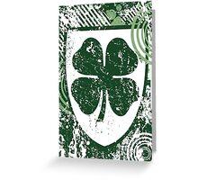 light burst clover Greeting Card