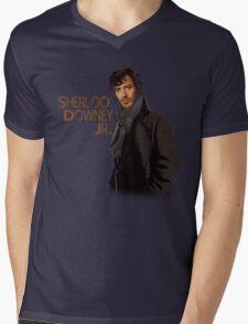 Sherlock Downey Jr. Mens V-Neck T-Shirt