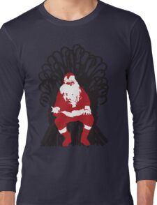 Christmas Is Coming - Candy Cane Throne Long Sleeve T-Shirt