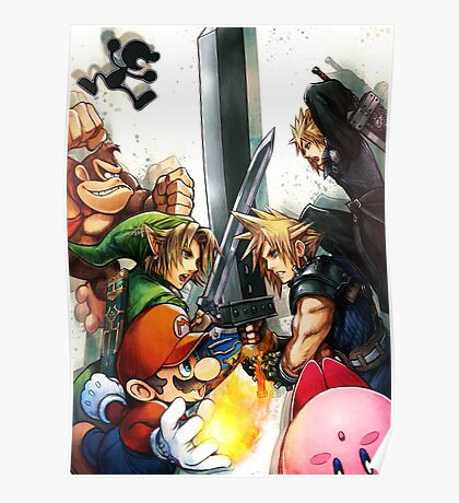 Smash 4 Cloud Reveal Illustration Poster