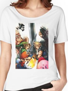 Smash 4 Cloud Reveal Illustration Women's Relaxed Fit T-Shirt