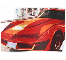 CHEVROLET Corvette 1969 Stingray Illustration Poster