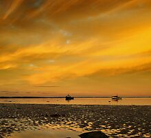 Boulmer beach by Paul Davis