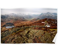 Views of Little Langdale Valley Poster