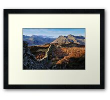 Lingmoor And The Langdales Framed Print