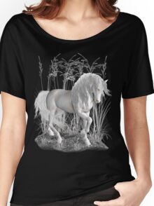 Ivory .. a white stallion Women's Relaxed Fit T-Shirt