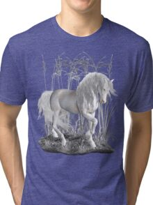 Ivory .. a white stallion Tri-blend T-Shirt