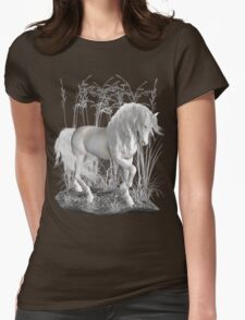 Ivory .. a white stallion Womens Fitted T-Shirt