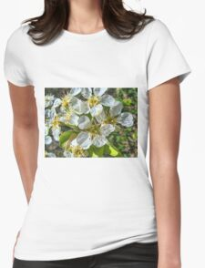 Peach Blossom Womens Fitted T-Shirt
