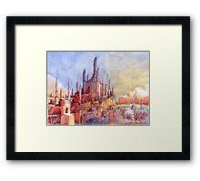 Tempio di fantasia Framed Print