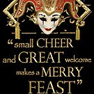 Shakespeare Comedy Of Errors Feast Quote by Sally McLean