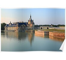 Chantilly, the castle at the golden hour, France. Poster