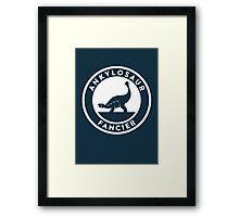 Ankylosaur Fancier Print Framed Print