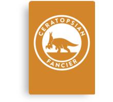 Ceratopsian Fancier Print Canvas Print