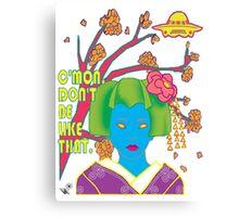 Geisha UFO Canvas Print