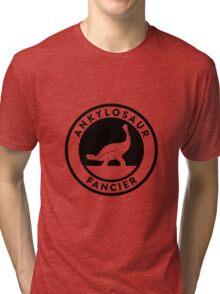 Ankylosaur Fancier Tee (Black on Light) Tri-blend T-Shirt