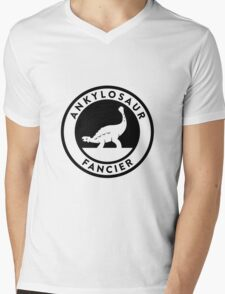 Ankylosaur Fancier Tee (Black on Light) Mens V-Neck T-Shirt