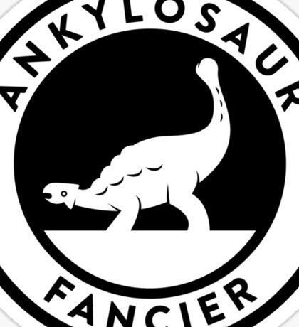 Ankylosaur Fancier Tee (Black on Light) Sticker