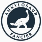 Ankylosaur Fancier Tee (Blue on White) by David Orr