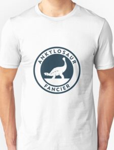 Ankylosaur Fancier Tee (Blue on White) T-Shirt