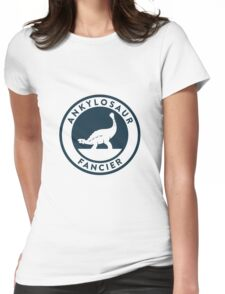 Ankylosaur Fancier Tee (Blue on White) Womens Fitted T-Shirt