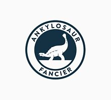 Ankylosaur Fancier Tee (Blue on White) Unisex T-Shirt