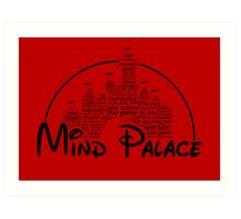 Mind Palace - (black text) Art Print