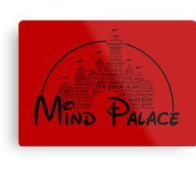 Mind Palace - (black text) Metal Print