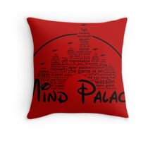 Mind Palace - (black text) Throw Pillow