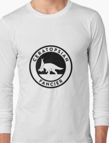 Ceratopsian Fancier Tee (Black on Light) Long Sleeve T-Shirt