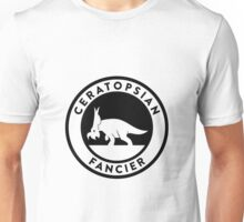 Ceratopsian Fancier Tee (Black on Light) Unisex T-Shirt