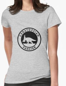 Ceratopsian Fancier Tee (Black on Light) T-Shirt