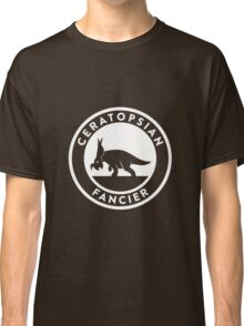 Ceratopsian Fancier Tee (White on Dark) Classic T-Shirt