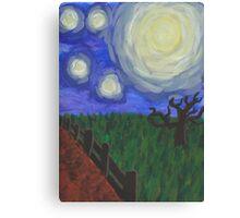Moonlit Field Canvas Print