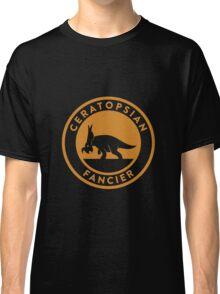 Ceratopsian Fancier Tee (Mustard on White) Classic T-Shirt