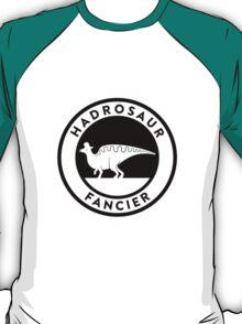 Hadrosaur Fancier (Black on Light) T-Shirt